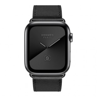 Apple Series 5 Hermes Space Stainless Steel Case with Single Tour 44mm Smart Watch
