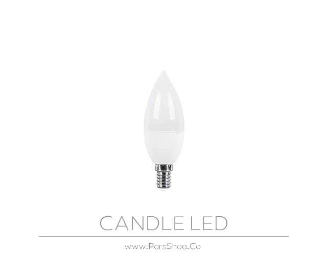 لامپ LED شمعی 6 وات مات پارس شعاع توس