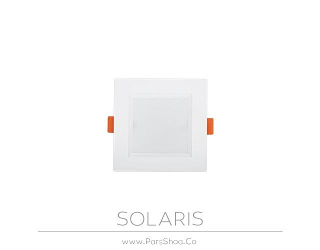 چراغ توکار سولاریس 7 وات مربعی پارس شعاع توس