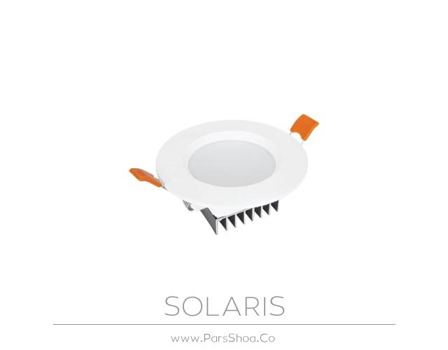 چراغ توکار سولاریس 9 وات دایره ای پارس شعاع توس