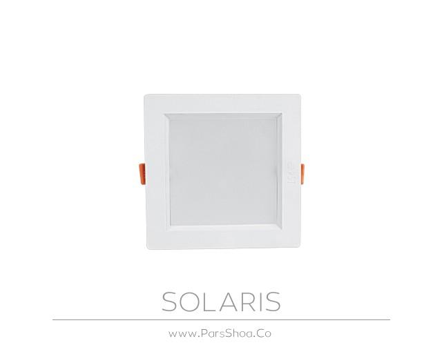 چراغ توکار سولاریس 12 وات مربعی پارس شعاع توس