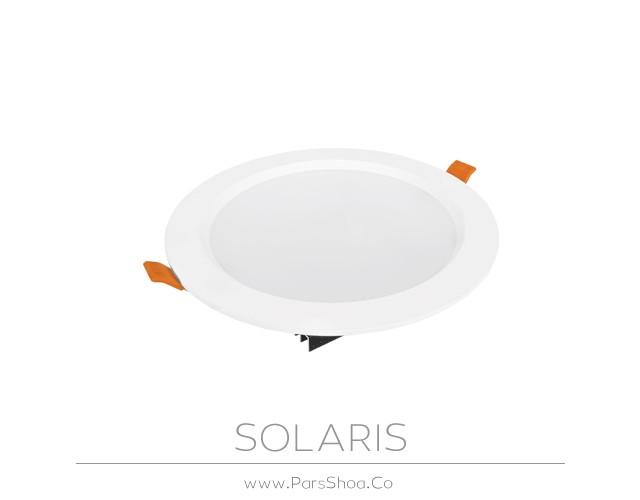 چراغ توکار سولاریس 18 وات دایره ای پارس شعاع توس