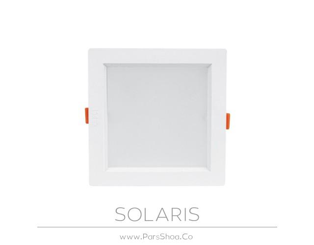 چراغ توکار سولاریس 18 وات مربعی پارس شعاع توس
