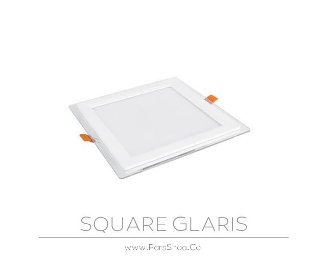 چراغ توکار گلاریس 18 وات مربعی پارس شعاع توس