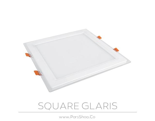 چراغ توکار گلاریس 30 وات مربعی پارس شعاع توس