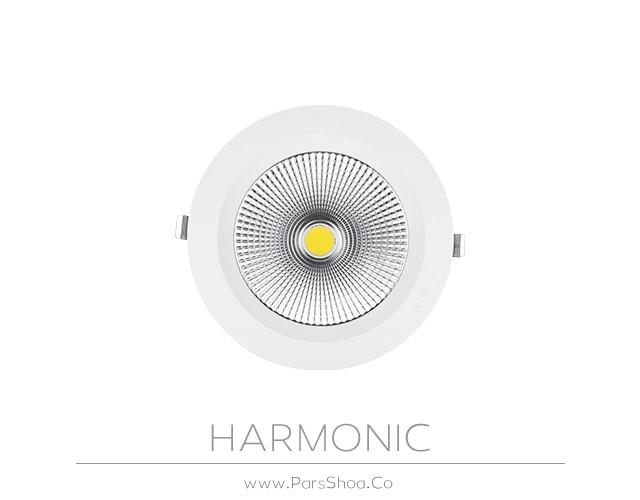 چراغ توکار هارمونیک 80 وات دایره ای پارس شعاع توس