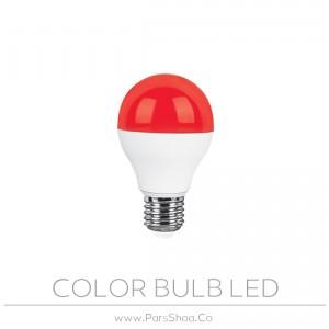 لامپ LED حبابی ۹ وات رنگی پارس شعاع توس