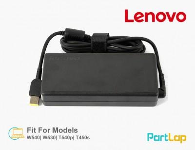شارژر لپ تاپ لنوو 20 ولت 6.75 آمپر 135 وات رابط USB مدل ADL135NLC3A