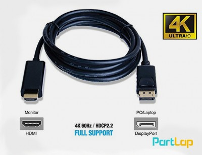 کابل تبدیل Display to HDMI با کیفیت 4K