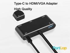 تبدیل USB TYPE C به HDMI/VGA و صدا مدل OTN-9573S