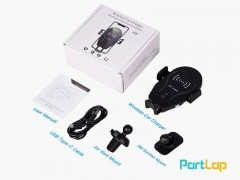 پایه نگهدارنده و شارژر وایرلس  C12 Car Wireless Charger