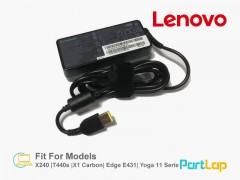 شارژر لپ تاپ لنوو 20 ولت 3.25 آمپر 65 وات رابط USB مدل ADLX65NCC3A