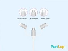 کابل HDMI سه سر انتقال تصویر و شارژ OTN-7537A HDTV Cable