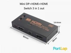 سوئیچ تصویر 3 به 1 HDMI مدل Onten ONT-7590 3 Ports HDMI Switch
