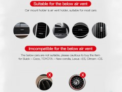 نگهدارنده و شارژر هوشمند وایرلس  TOTU King series wireless charge car mount