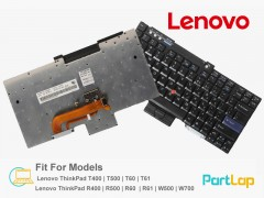 کیبورد لپ تاپ لنوو مدل Lenovo ThinkPad R400