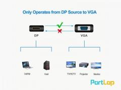 مبدل Display Port به VGA کیفیت Full HD و طول 15 سانتی متر