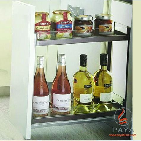 سوپر جا بطری زیر صفحه استیل و شیشه فانتونی کد F241