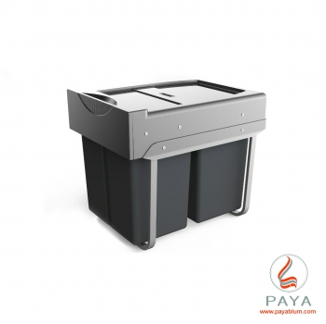 سطل زباله دو مخزنه لینکدار پلاتین کد 3655