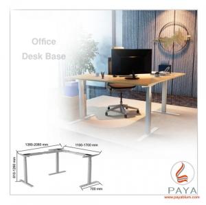 میز سه پایه برقی L فرم ساده فانتونی T201