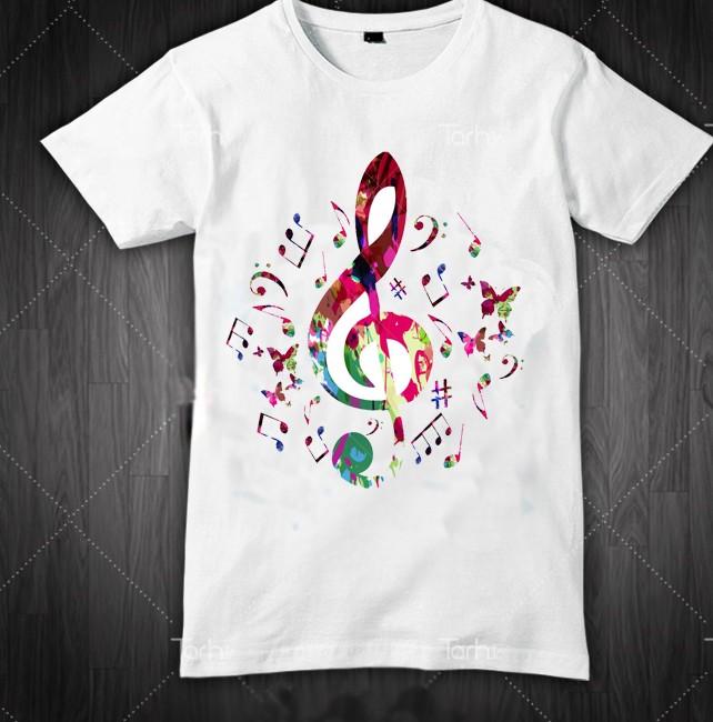 تی شرت طرح کلید سل موزیکال