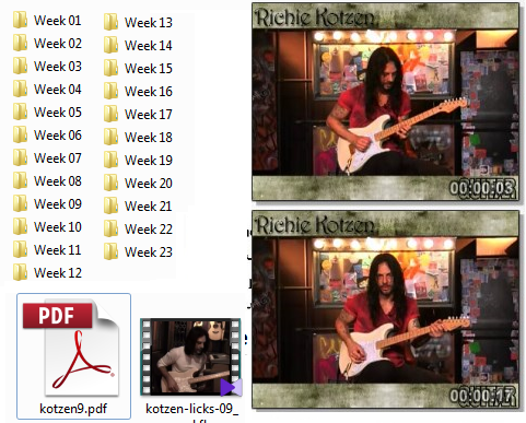 Guitar Word . Richie Kotzen's Lick of the week