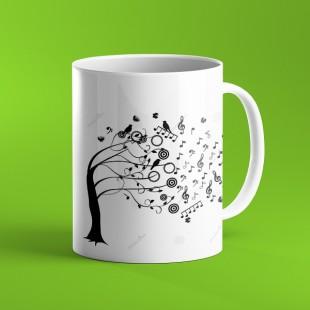 ماگ طرح درخت موسیقی