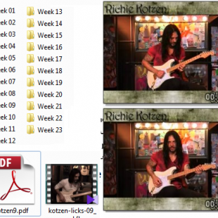 Guitar Word . Richie Kotzen's Lick of the week