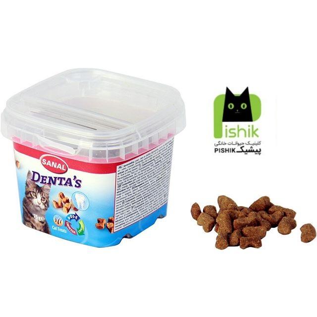 تشویقی درمانی و مکمل غذایی کاسه ای مالت و ویتامین مخصوص گربه ها جهت مراقبت از دندان ها (۷۵ گرم) سانال