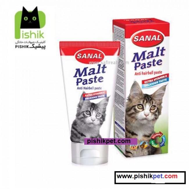 خمیر مالت گربه آنتی هیربال به همراه ویتامین سانال هلند