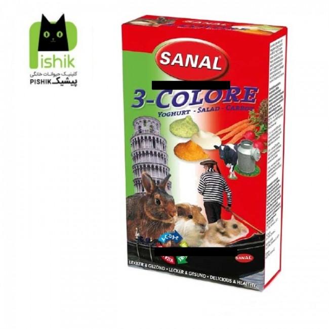 تشویقی درمانی و مکمل غذایی مولتی ویتامین جوندگان سانال با ۳ طعم ماست ، هویچ و سبزیجات