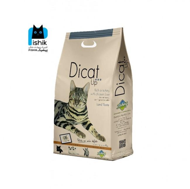 غذای گربه دی کت آپ حاوی گوشت بوقلمون و جگر (۱۴ کیلوگرم) Dibaq Dicat Up Land Taste Turkey and Chicken Liver 14kg