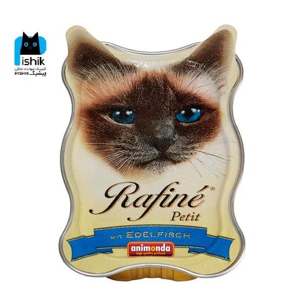 پوچ ووم گربه رافینه پتیت حاوی پته گوشت ماهی-85گرم
