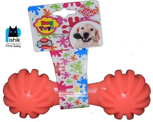 اسباب بازی دندان گیر دمبل بزرگ مارک Dog Toy
