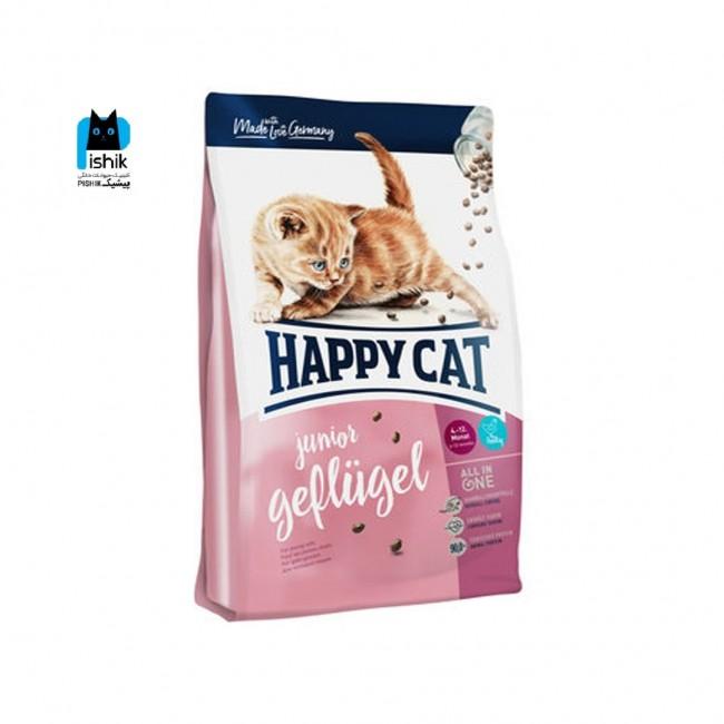 غذای خشک بچه گربه ۴ تا ۱۲ ماه، مدل جونیور ژفلوژل، برند هپی کت