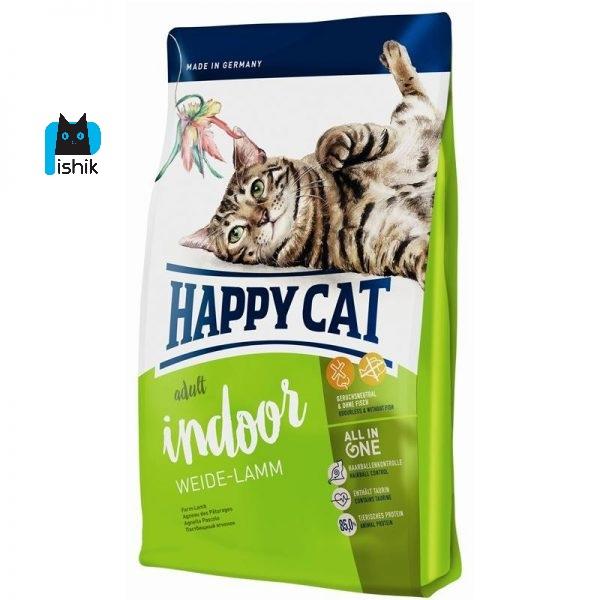 غذای خشک گربه بالغ سوپرپریمیوم با گوشت بره هپی کت 1.4 کیلوگرم