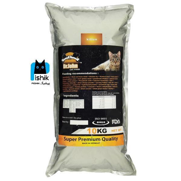 غذای خشک دکتر ژان بچه گربه با کیفیت سوپر پریمیوم 10 کیلوگرمی