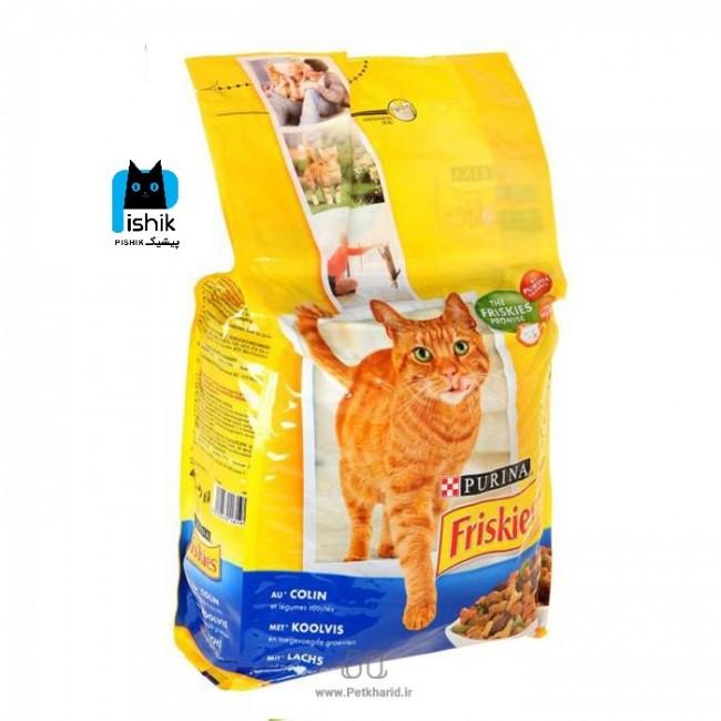 غذای گربه فریسکیز فرانسه 1.5 کیلوگرمی با طعم ماهی