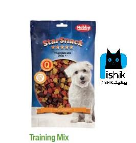 تشویقی سگ نوبی مدل Training mix طرح قلب وزن 200 گرم