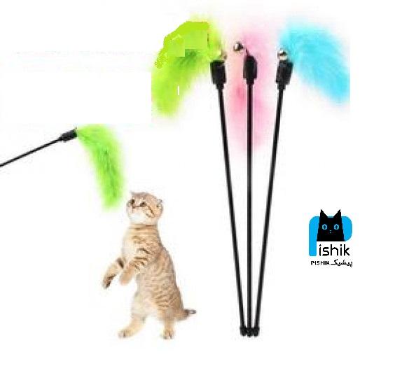اسباب بازی میله ای زنگوله دار گربه