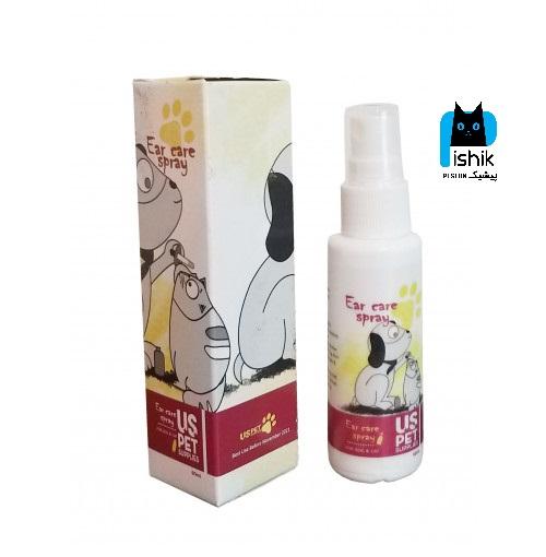 قطره محافظ و پاک کننده گوش برای سگ و گربه 60 میلی لیتر یو اس پت US PET