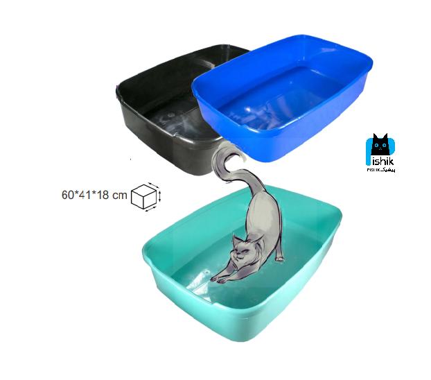 ظرف خاک و توالت گربه بدون لبه بزرگ برند زاریکس