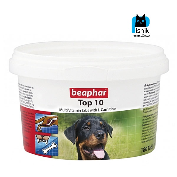 قرص مکمل سگ تاپ 10 بیفار تاپ تن