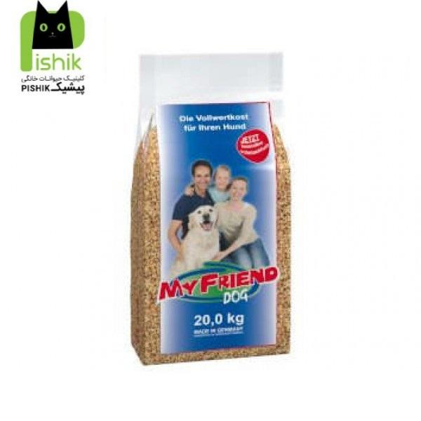 غذای خشک 20 کیلویی My Friend با کیفیت پرمیوم محصول شرکت بوش آلمان مخصوص سگ های بالغ کلیه نژادها