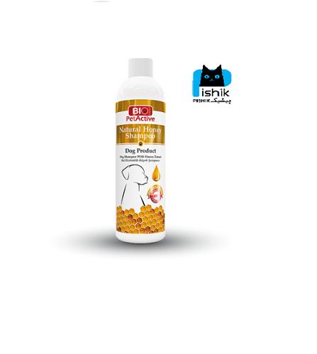 شامپو سگ با عصاره طبیعی عسل 250 میلی برند بیو پت اکتیو | Bio Pet Active Honey Shampoo For Dogs 250 ML