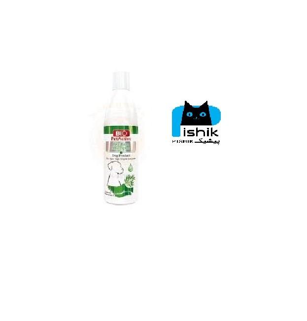 شامپو سگ با عصاره طبیعی درخت چای 250 میلی برند بیو پت اکتیو | Bio Pet Active tea tree Shampoo For Dogs 250 ML