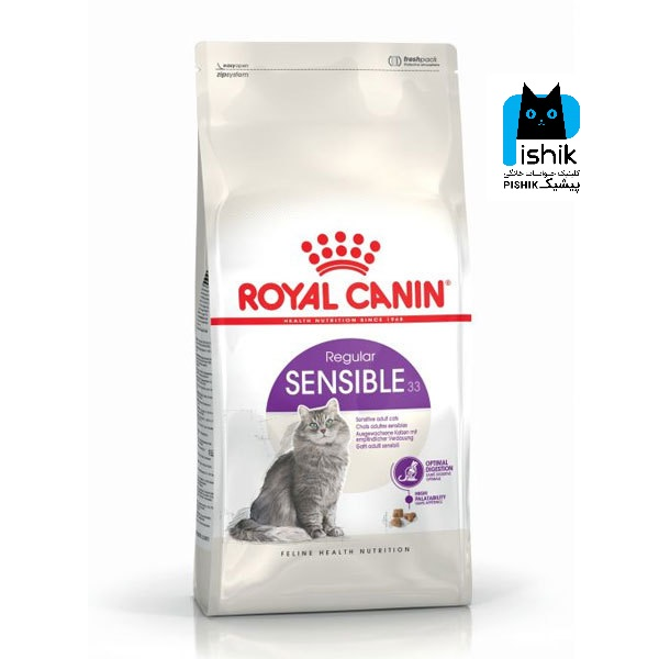 غذای خشک گربه سنسیبل رویال کنین 2 کیلوگرمی Royal Canin Sensibleاصل