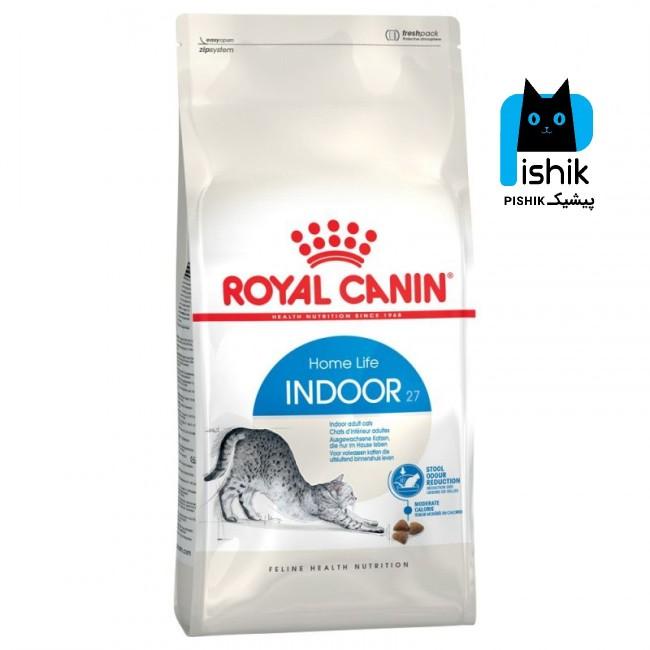 غذای خشک گربه رویال کنین ایندور 2 کیلویی indoor _ Royal Canin indoor حاوی مقادیر بالای پروتئین