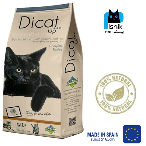 غذای خشک گربه برند دیکت آپ 1 کیلوگرمی فله Dicat Up مدل super premium high protein