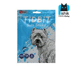 غذای تشویقی سگ تیدبیت مدل Fish وزن ۷۰ گرم TIDBIT